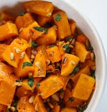 roasted butternut squash with
