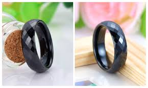 wedding band reviews black faceted domed tungsten wedding bands unique tungsten