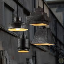 Multi Pendant Lighting Rustic Black 4 Light Multi Light Designer Pendant Lighting