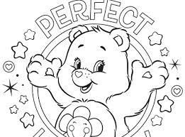 perfect harmony care bears coloring ag kidzone