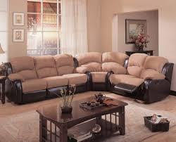 Two Tone Reclining Sofa Two Tone Mocha Brown Modern Reclining Sectional Sofa