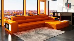 Orange Living Room Chairs by Vibrant Orange Sofa Design For Extraordinary Living Room Color
