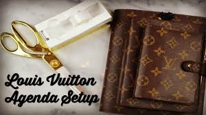 Desk Agenda Louis Vuitton Agenda Setups Pm Mm And Desk Agenda Youtube