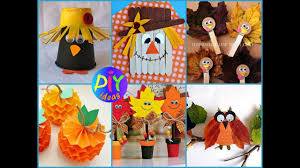 50 diy fall crafts for kids easy and fan kids craft ideas youtube