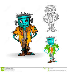 halloween monsters isolated spooky zombie man set royalty free