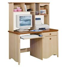 Modern Computer Desk With Hutch by Cream Wooden Computer Desk With Single Hutch Above The Storage