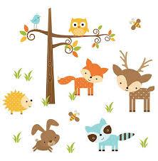 Woodland Animals Nursery Decor Woodland Animals Nursery Decor Forest Friends Wall Decal Mural