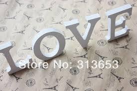 wholesale diy home props letters white modern alphabet