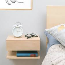 floating bedside table with drawer and shelf by urbansize floatingbedsidenaturalsmall floating bedside table with drawer and shelf floatingbedsidetablegreysmall floatingbedsidetablenaturallarge