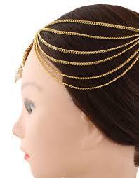 designer hair accessories buy anuradha golden finish stylish beautiful designer hair