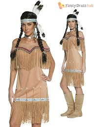 Indian Halloween Costume Adults Native Indian Costume Ladies Pocahontas Fancy Dress Mens