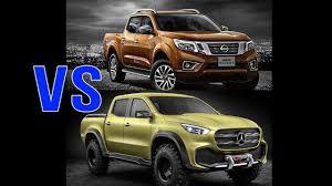2017 nissan navara vs 2018 mercedes x class car reviews youtube