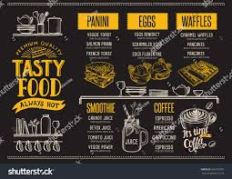 food menu restaurant cafe design template stock vector 636377987