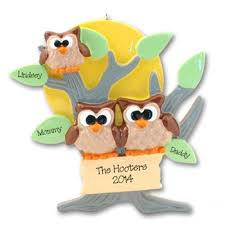 deb co owl family of 3 lt br gt personalized family ornament