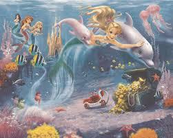 Wall Murals Wallpaper Kids Wall Murals Wall Murals For Mermaids Wallpaper Mural Wall Murals Ireland