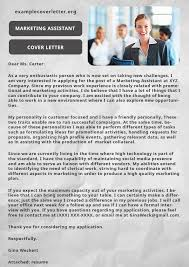 marketing assistant cover letter sample example cover letter