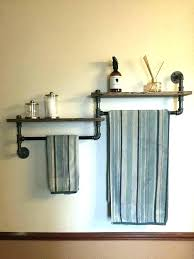 Bathroom Towel Holder Ideas Towel Rack With Hooks For Bathrooms Towel Hooks And Floating Shelf