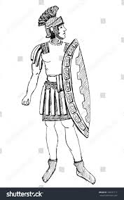 drawn warrior ancient rome pencil and in color drawn warrior
