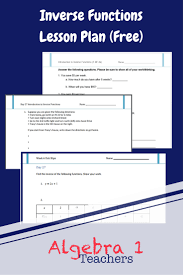 inverse functions worksheet set free download for high