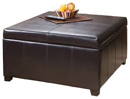 Leather Coffee Table Storage Coffee Tables Ideas Leather Ottoman Coffee Table With Storage