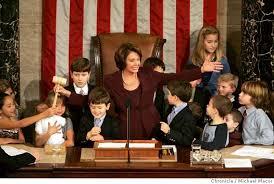 Seeking Gavel Cast Madam Speaker Pelosi Picks Up Gavel She Becomes The Most