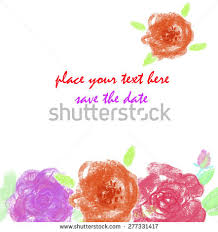 hand drawn watercolor purple peonies rectangular stock