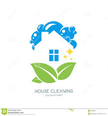 home and design logo cleaning service logo emblem or icon design template clean house