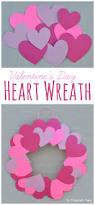 paper plate valentine u0027s day heart wreath craft the resourceful mama