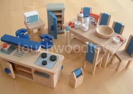 dolls house kitchen modern wooden dolls house kitchen furniture