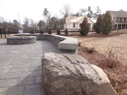 Belgard Fire Pit by Paver Patio Fire Pit Seating Wall And Landscaping In Tega Cay At