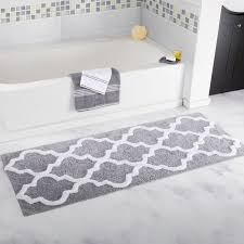 Black And White Bathroom Rug by Plyh Long Trellis Bath Rug U0026 Reviews Wayfair