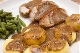 cuisiner roti de porc recette de kluski et rôti de porc facile et rapide