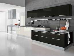 contemporary kitchen cabinets white gloss walls white crystal