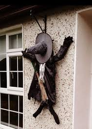 smashed witch decoration is a great idea for outdoor or a front