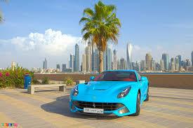 Ferrari F12 Front - baby blue ferrari f12 berlinetta front side in dubai sssupersports