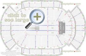 Mohegan Sun Arena Floor Plan Gila River Arena Seat U0026 Row Numbers Detailed Seating Chart