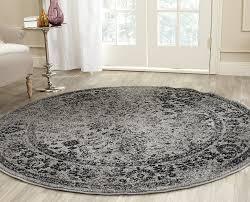 Black Circle Rug Amazon Com Safavieh Adirondack Collection Adr109b Grey And Black
