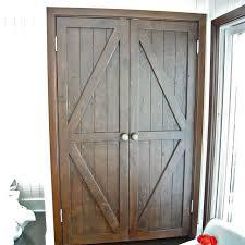 Folding Closet Door Made Custom Reclaimed Wood Bi Fold Closet Doors For A Luxury