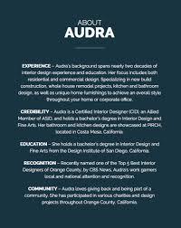 about us audra interiors corona mar interior design