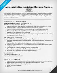 Resume Templates For Administrative Assistant Administrative Assistant Resume Samples Resume Samples And