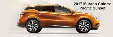 exterior and interior color options 2017 5 nissan murano suv