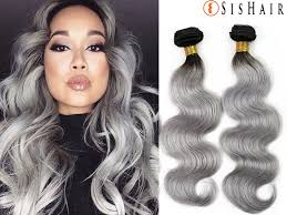 can ypu safely bodywave grey hair 1 bundle 8a granny silver gray ombre brazilian virgin remy hair