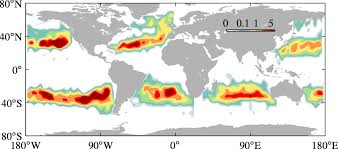 map world oceans study helps explain how garbage patches form in the world s oceans