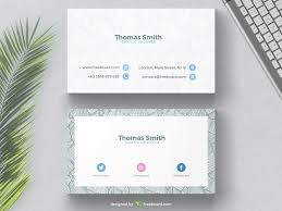 Minimal Business Card Designs Business Card With Tropical Background Freebcard