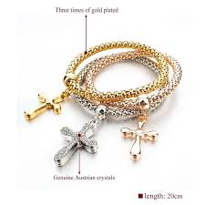 bracelet charms cross images Stacking cross charms bracelets set the ichthus jpg