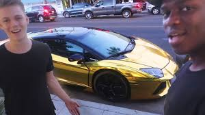 gold convertible lamborghini his new 100 gold lamborghini youtube