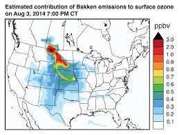 Air Quality Map Usa by The Bakken Crude Debate