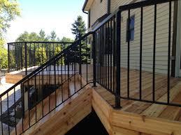 aluminum deck railing with artistic impression u2013 amazing home