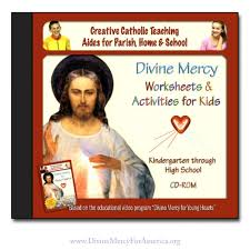 Rosary For Kids Worksheets Divine Mercy Worksheets U0026 Activities For Kids Cd Rom Divine Mercy