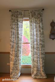 gold shoe custom curtains for the dining room